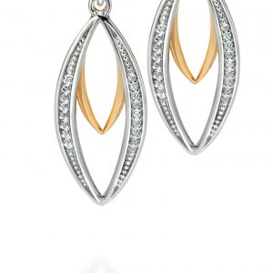 Fiorelli - Silver/GP CZ Earrings-0