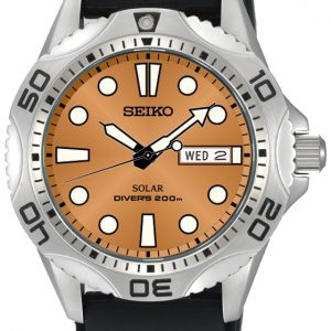 Seiko - Gents Solar Divers Strap Watch-0