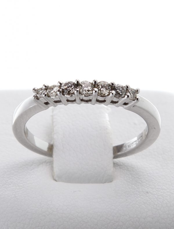 9ct White Gold Diamond (0.28ct) Half Eternity Ring-0