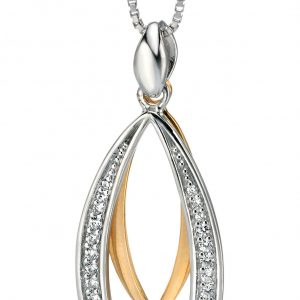 Fiorelli - Silver CZ Pendant and Chain-0