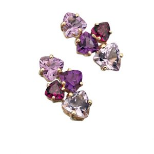 Amethyst & Garnet Earrings-0