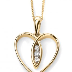 Diamond Heart Pendant & Chain-0