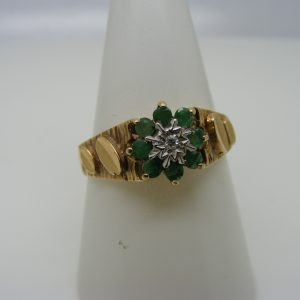 Diamond & Emerald Ring-0