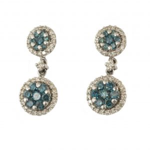 Blue Diamond Earrings-0